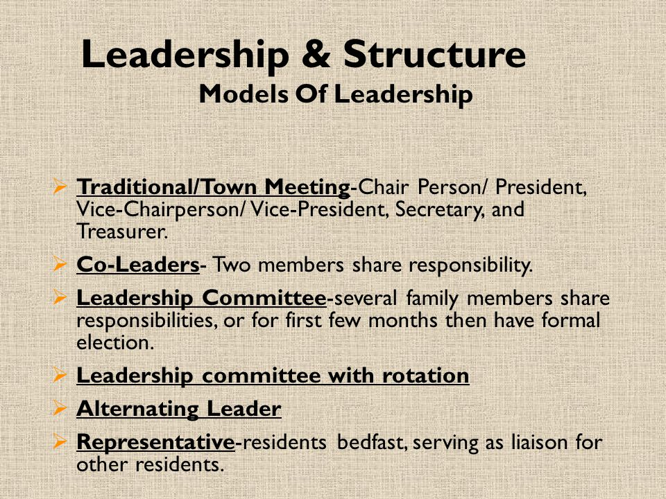 Leadership & Structure
