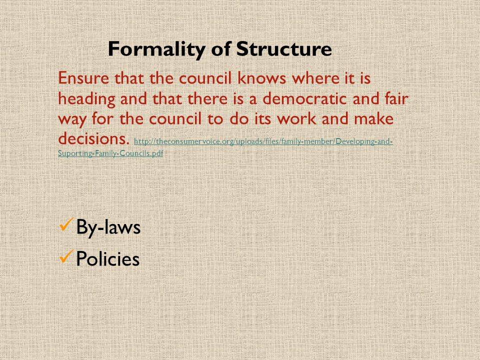 Formality of Structure