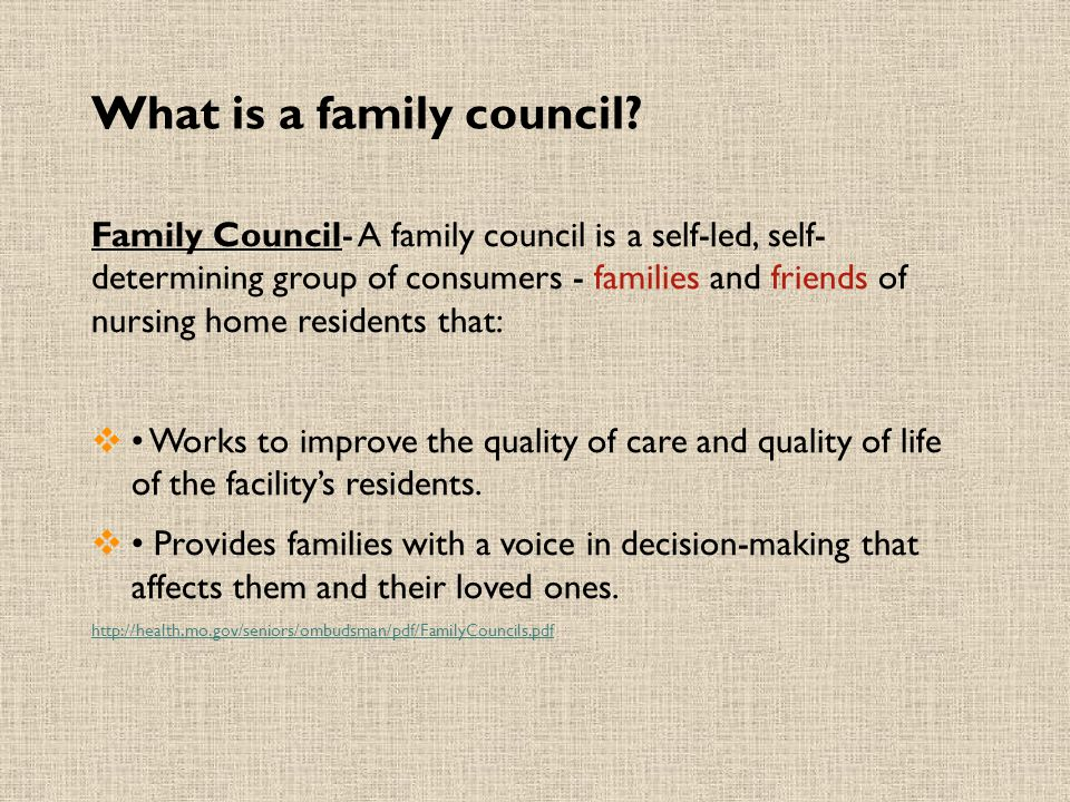What is a family council