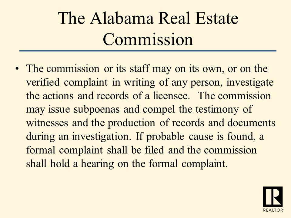 The Alabama Real Estate Commission