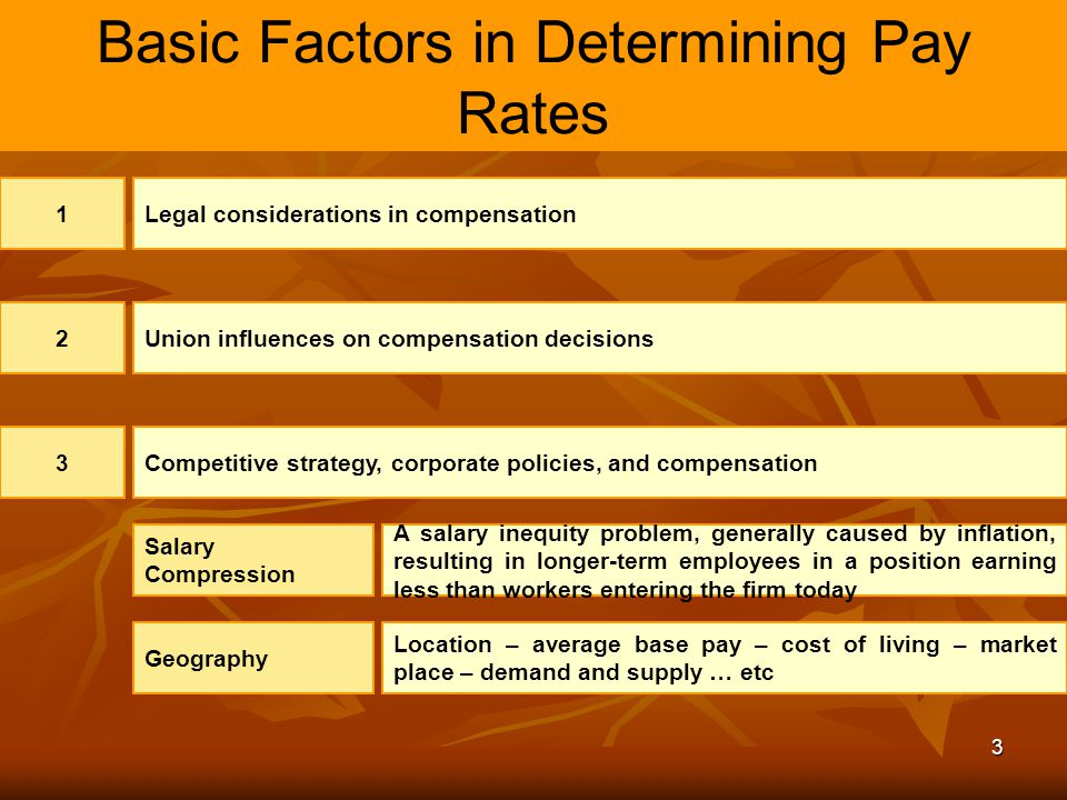 Basic Factors in Determining Pay Rates