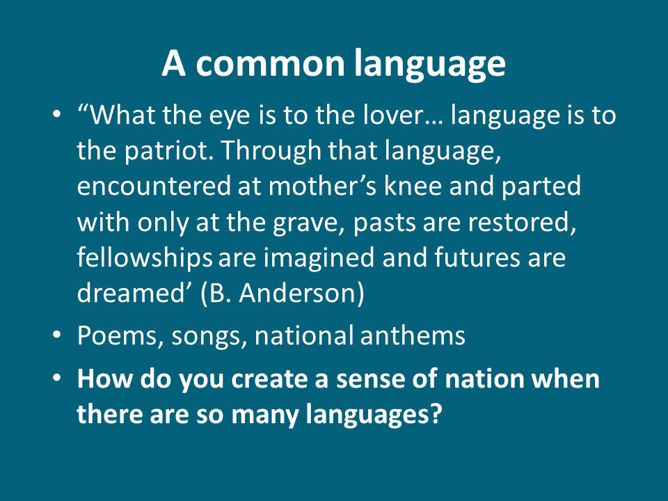 A common language