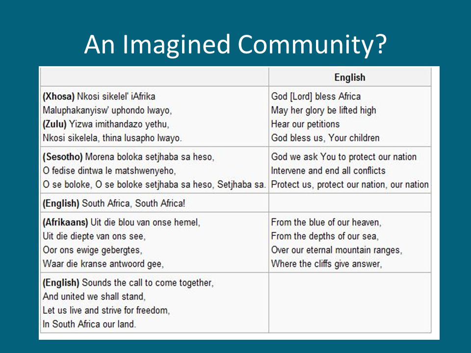 An Imagined Community