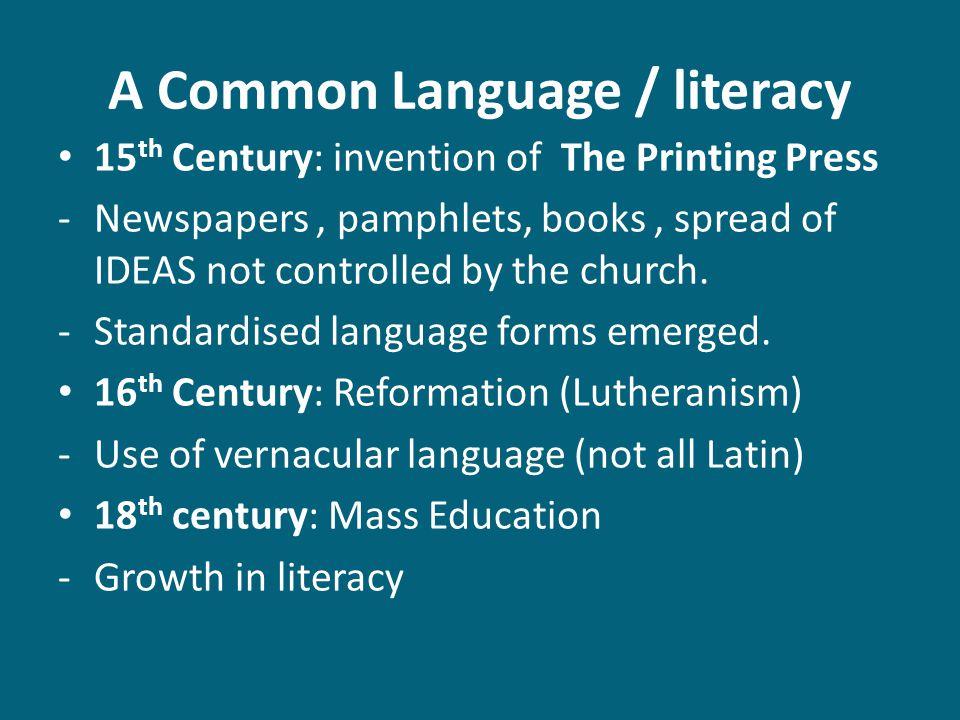 A Common Language / literacy