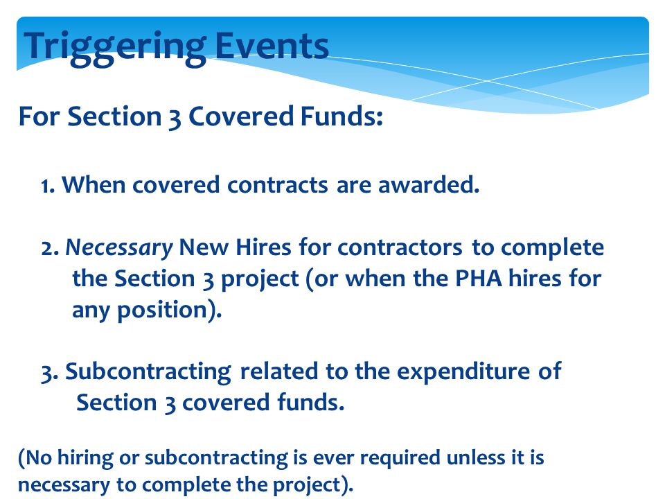 Triggering Events For Section 3 Covered Funds:
