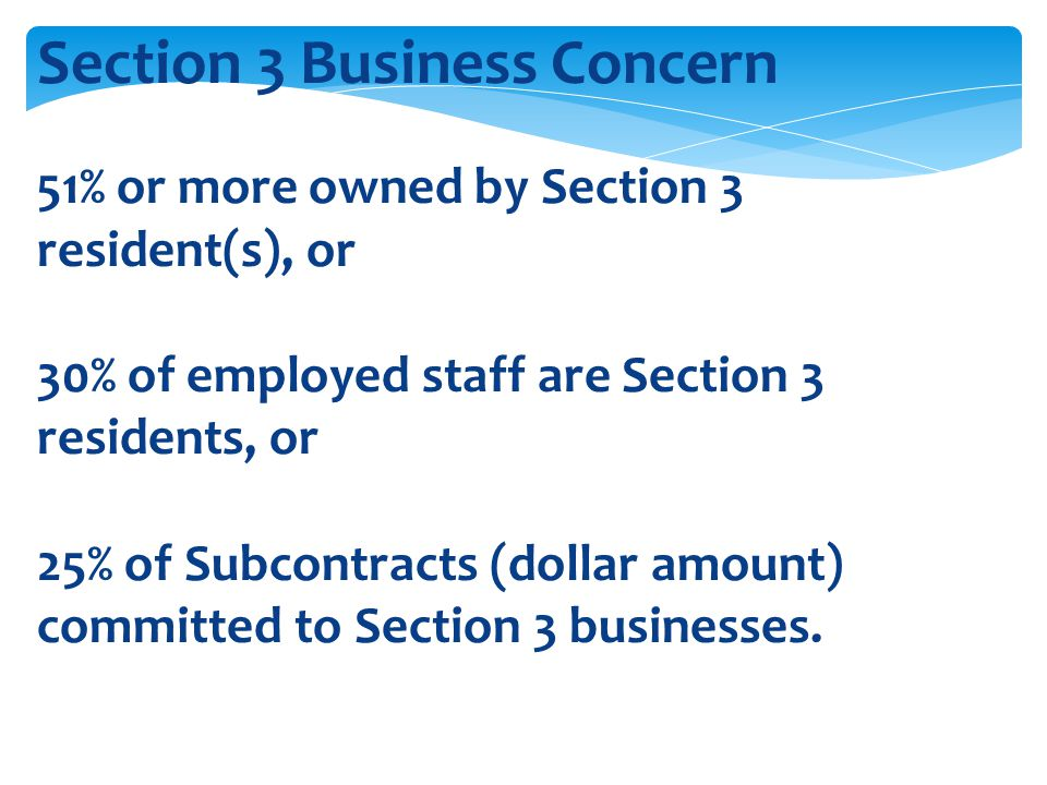 Section 3 Business Concern