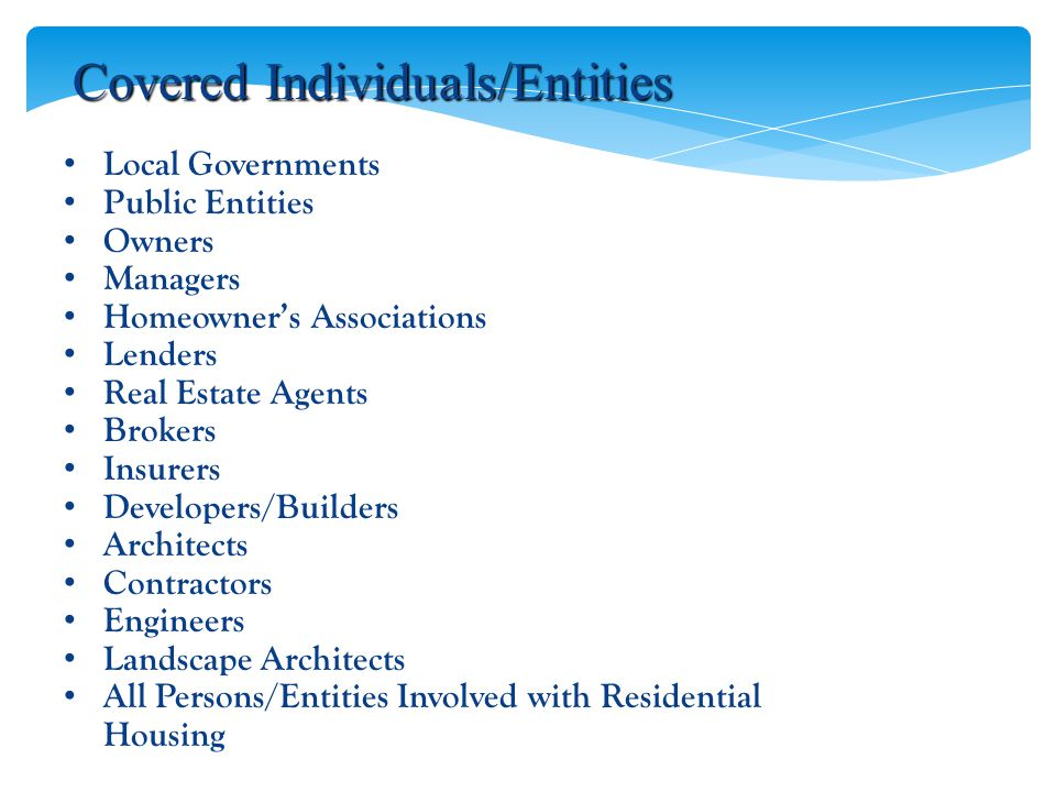 Covered Individuals/Entities