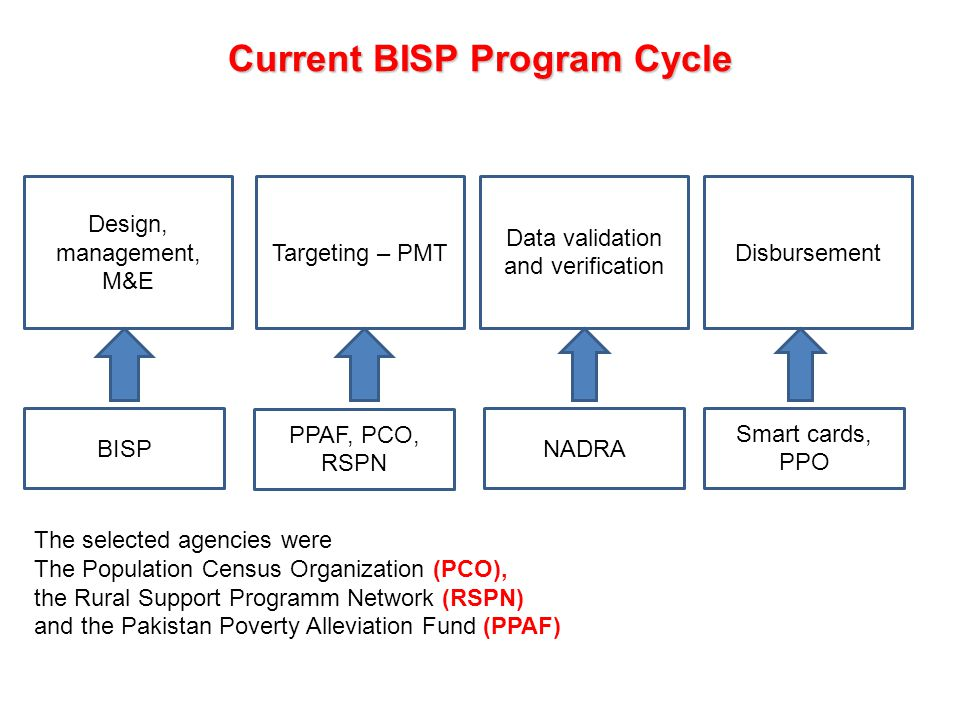 Current BISP Program Cycle