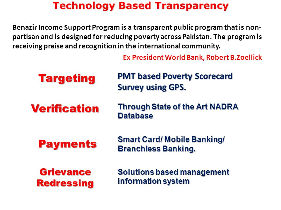 Technology Based Transparency