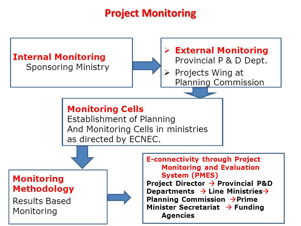 Project Monitoring External Monitoring Provincial P & D Dept.
