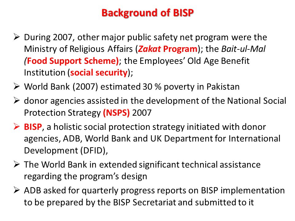 Background of BISP
