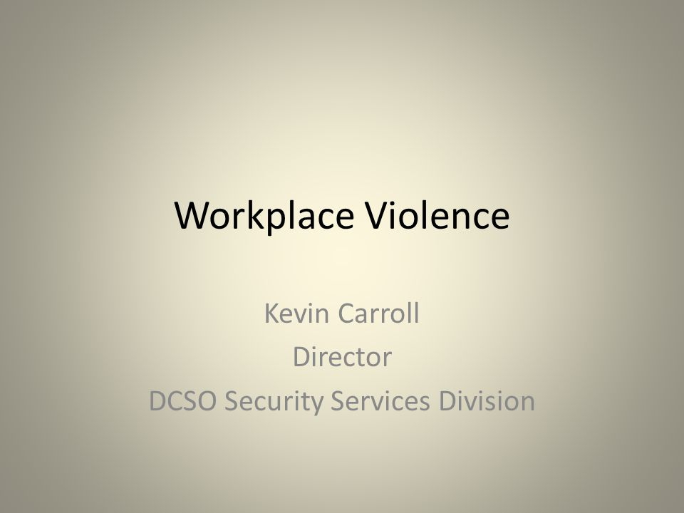 Kevin Carroll Director DCSO Security Services Division