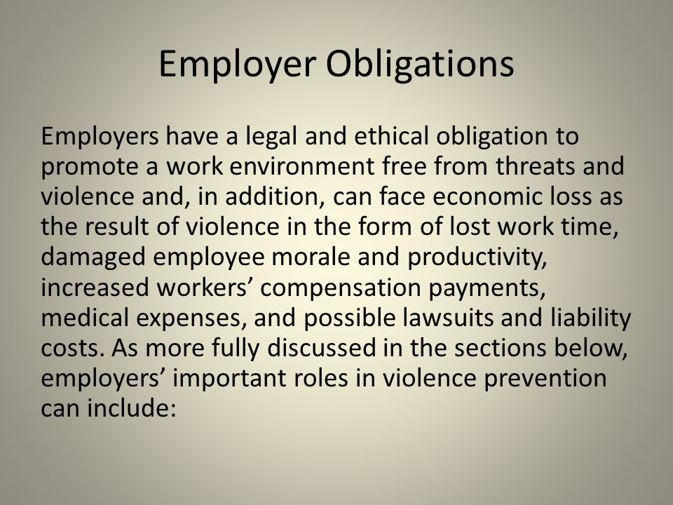 Employer Obligations