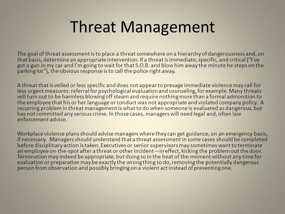 Threat Management