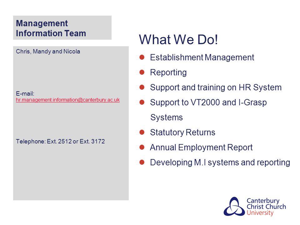 Management Information Team
