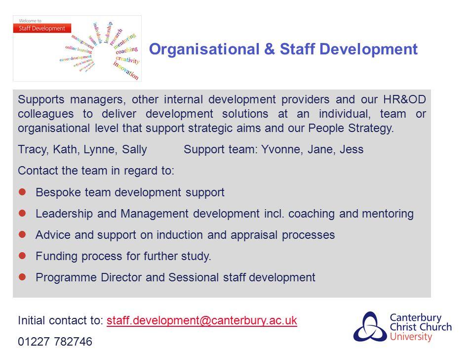 Organisational & Staff Development