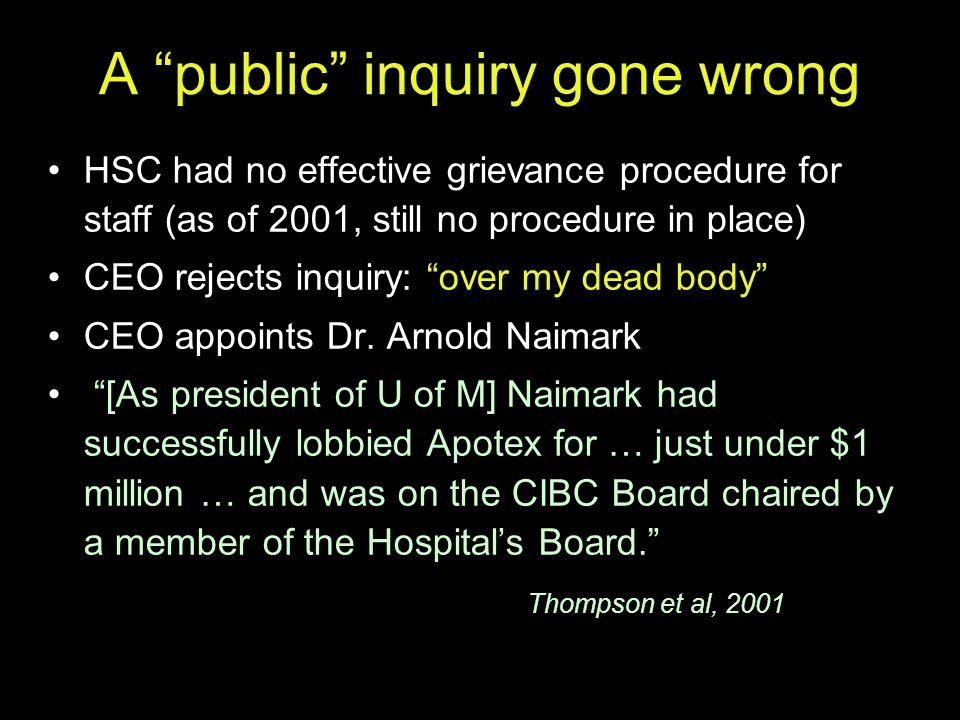 A public inquiry gone wrong