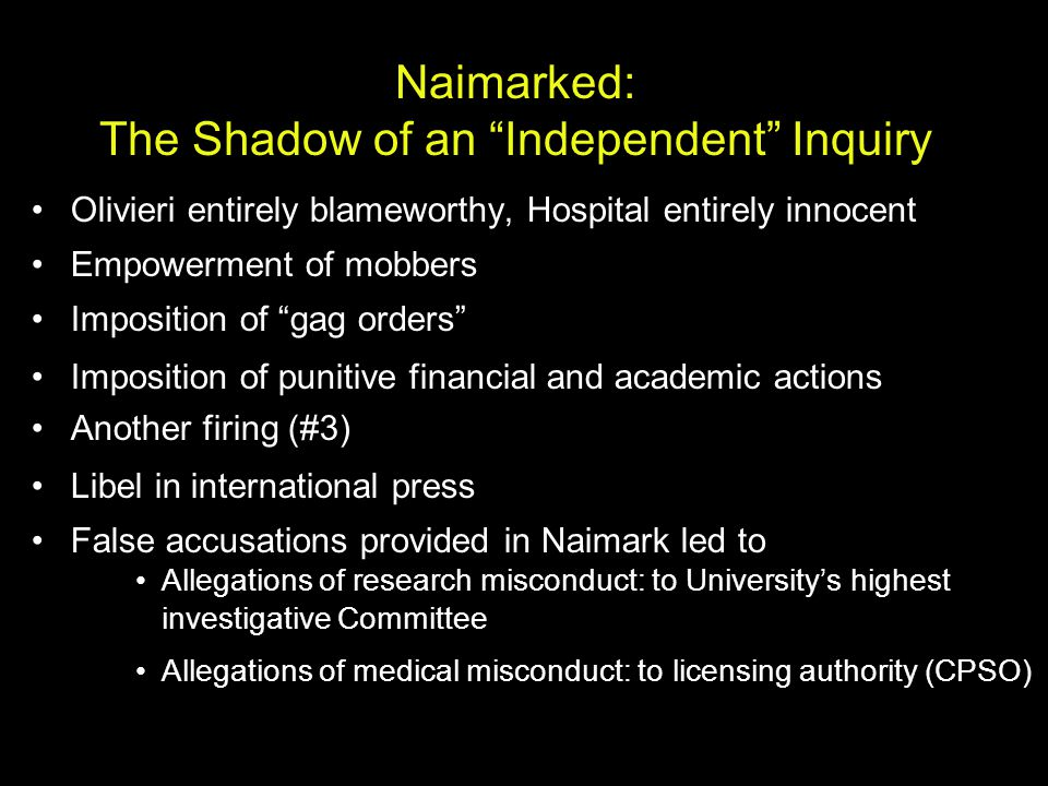 Naimarked: The Shadow of an Independent Inquiry