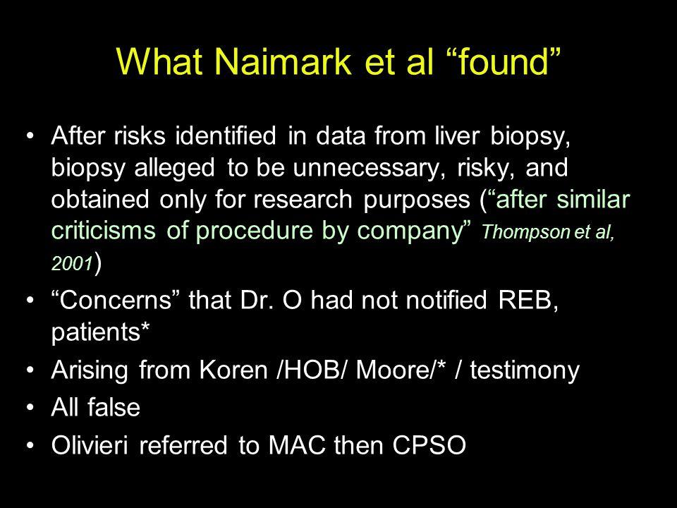 What Naimark et al found
