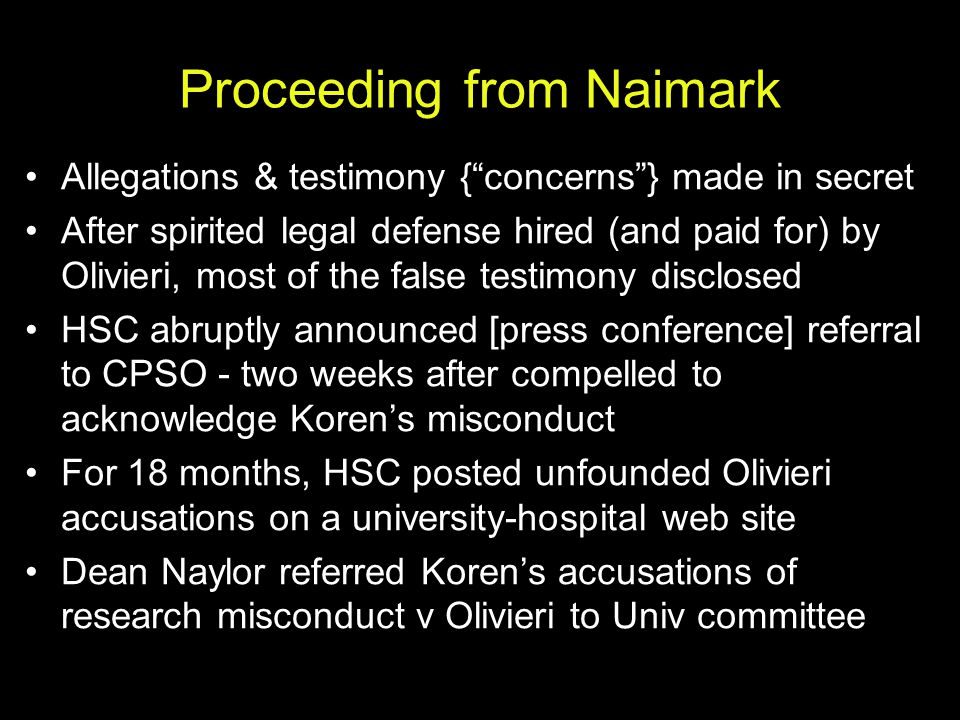 Proceeding from Naimark