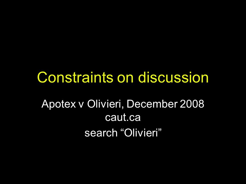 Constraints on discussion