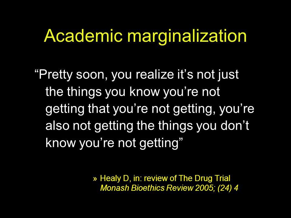 Academic marginalization