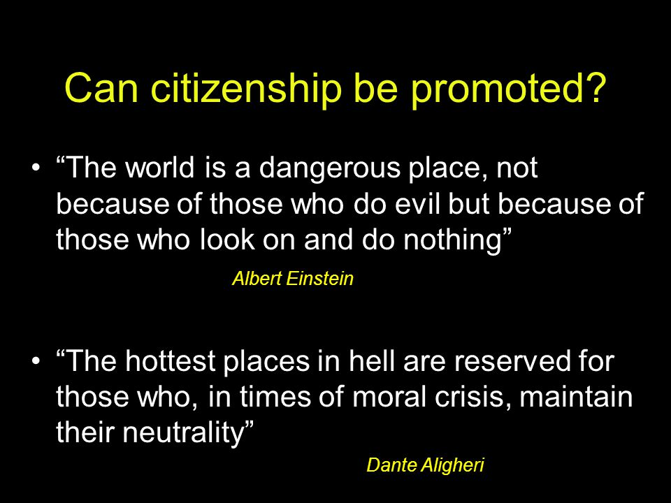 Can citizenship be promoted