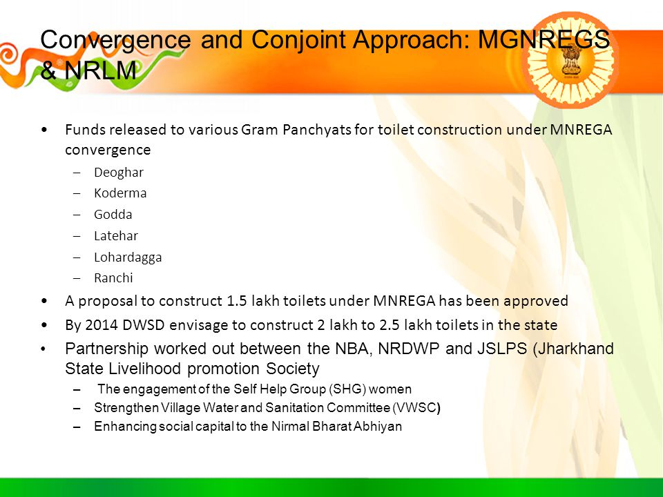 Convergence and Conjoint Approach: MGNREGS & NRLM