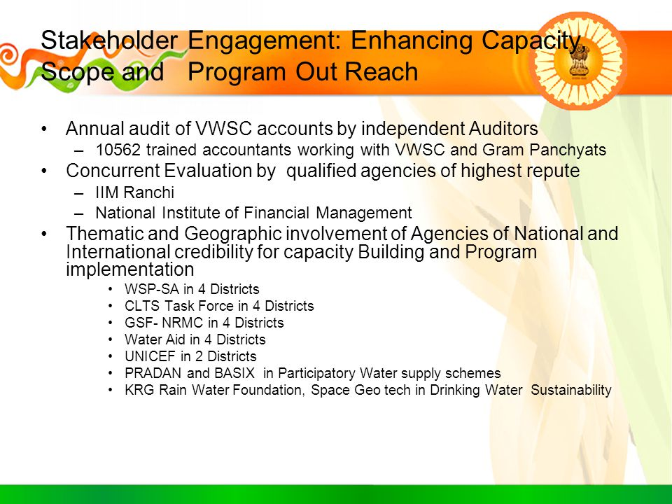 Stakeholder Engagement: Enhancing Capacity, Scope and Program Out Reach