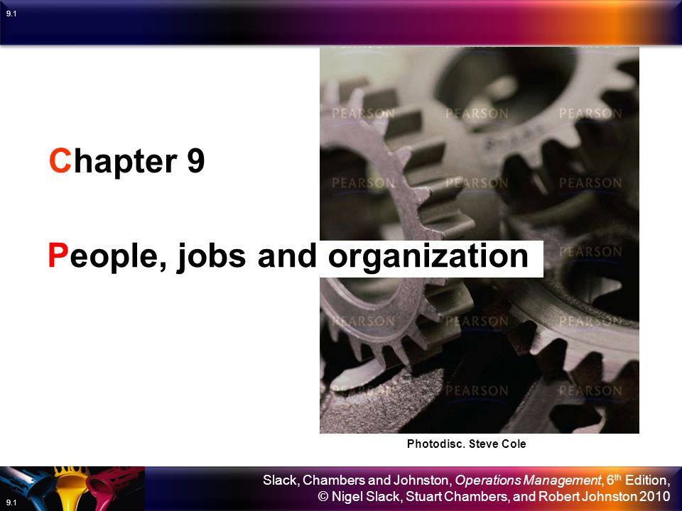 People, jobs and organization