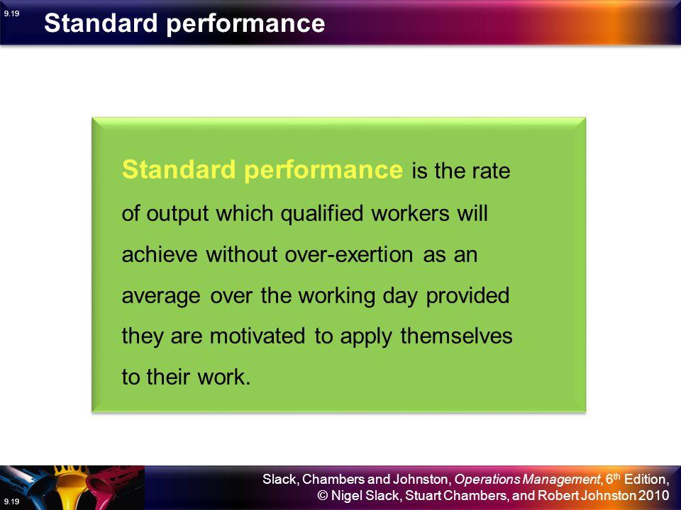 Standard performance
