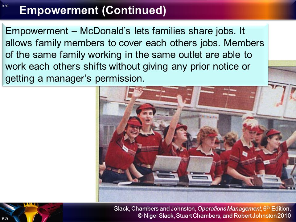 Empowerment (Continued)