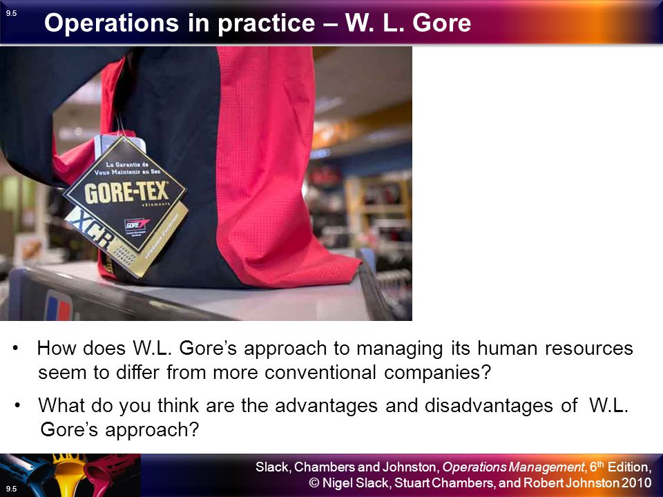 Operations in practice – W. L. Gore