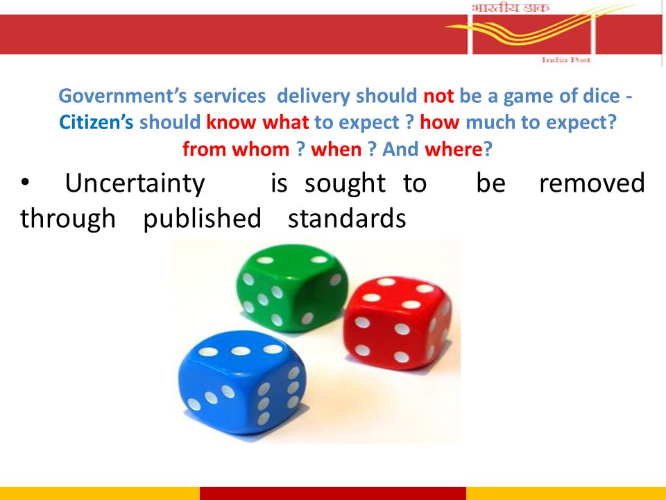 Uncertainty is sought to be removed through published standards