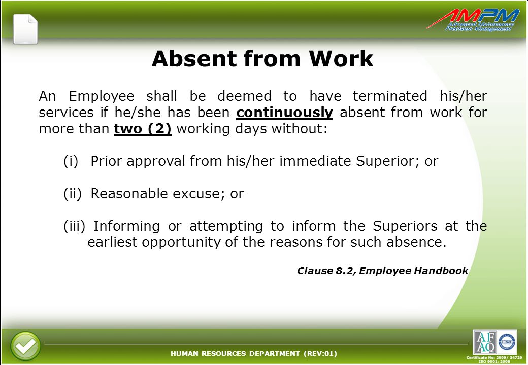 Absent from Work