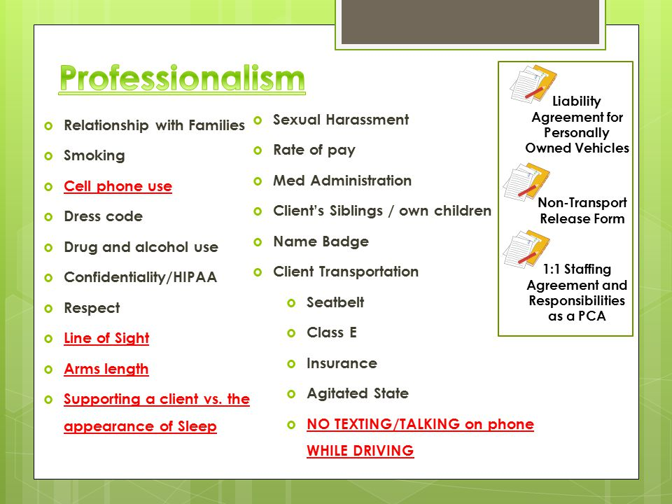 Professionalism Sexual Harassment Relationship with Families