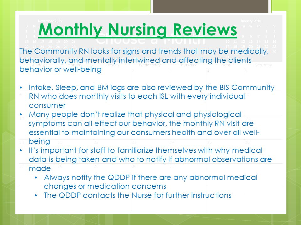 Monthly Nursing Reviews