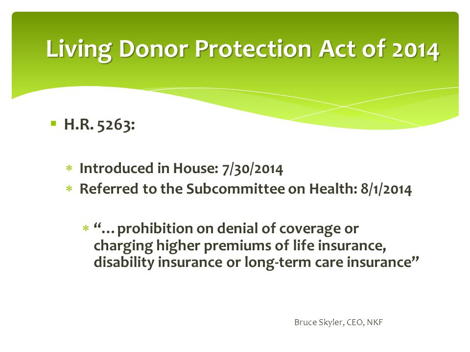 Living Donor Protection Act of 2014