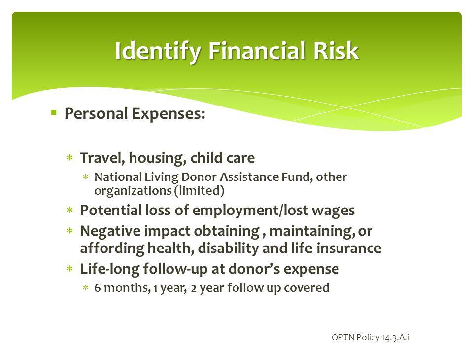 Identify Financial Risk