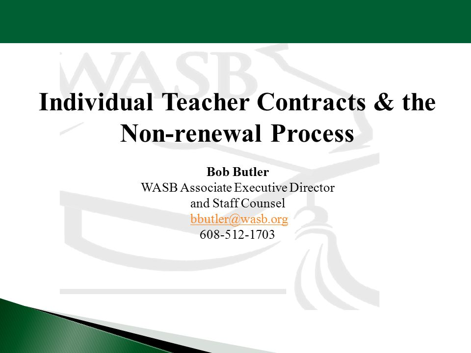 Individual Teacher Contracts & the