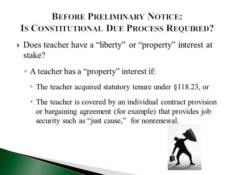 Before Preliminary Notice: Is Constitutional Due Process Required