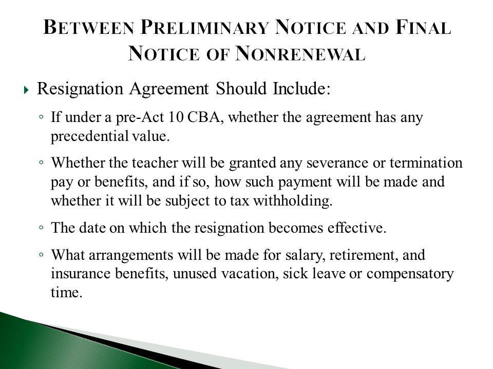 Between Preliminary Notice and Final Notice of Nonrenewal