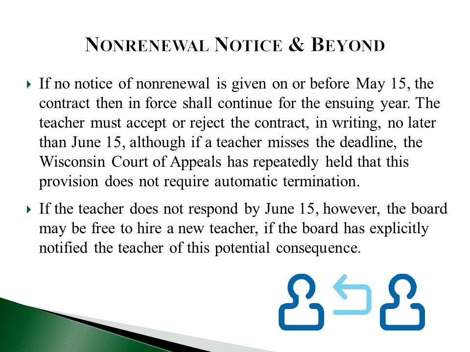 Nonrenewal Notice & Beyond