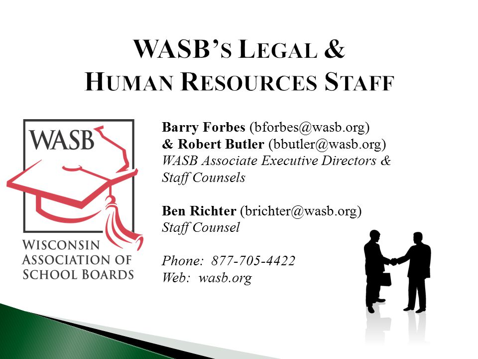 WASB's Legal & Human Resources Staff