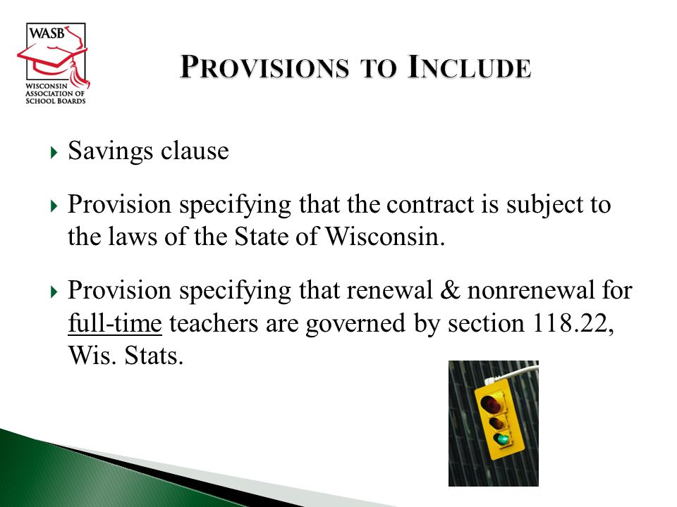 Provisions to Include Savings clause