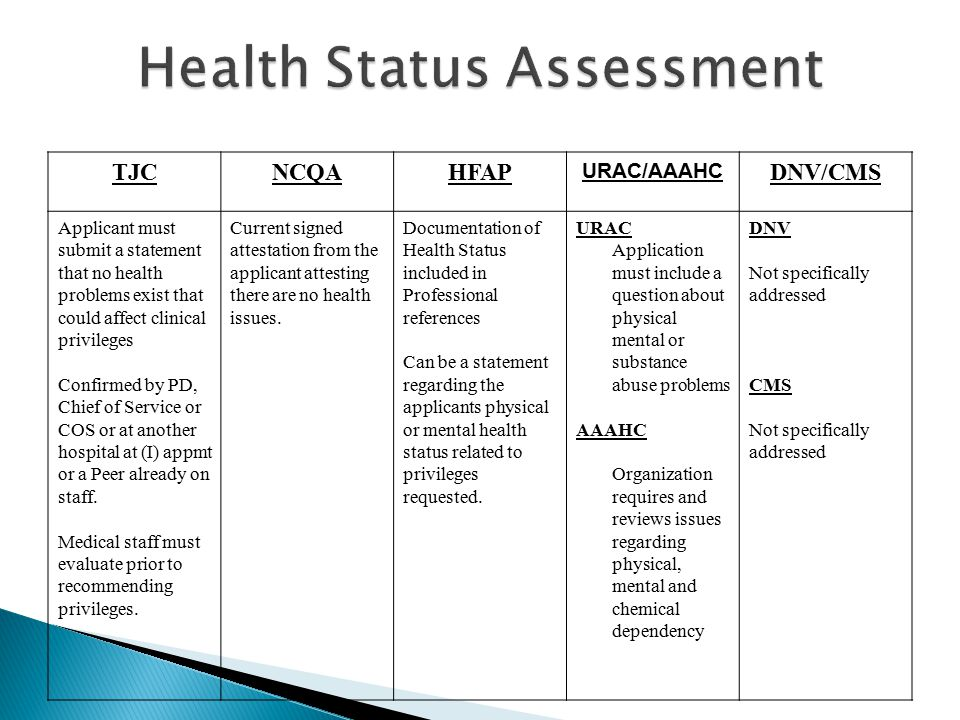 Health Status Assessment