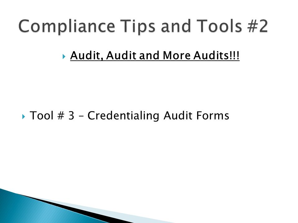 Compliance Tips and Tools #2