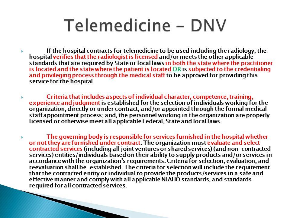 Telemedicine - DNV