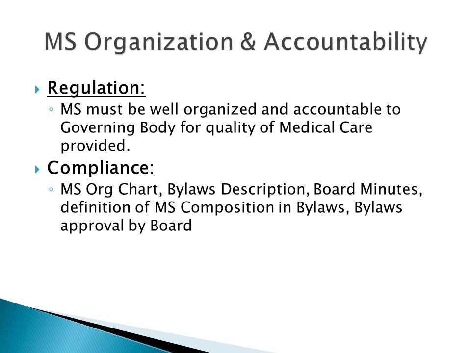MS Organization & Accountability