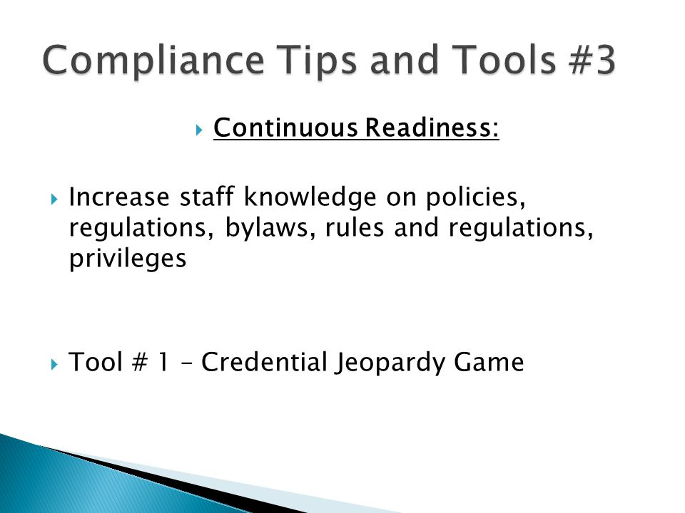 Compliance Tips and Tools #3